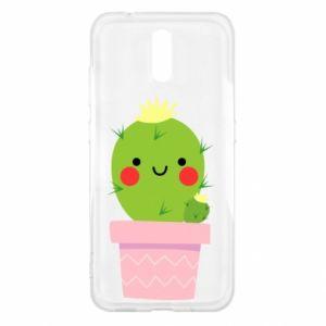 Etui na Nokia 2.3 Śliczny uśmiechnięty kaktus