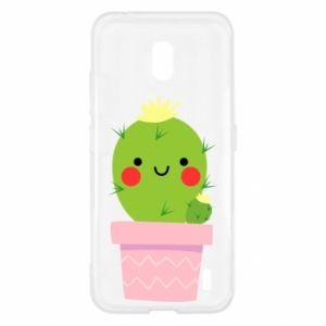 Etui na Nokia 2.2 Śliczny uśmiechnięty kaktus