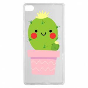 Etui na Huawei P8 Śliczny uśmiechnięty kaktus
