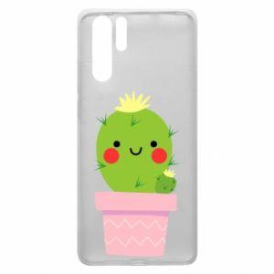 Etui na Huawei P30 Pro Śliczny uśmiechnięty kaktus