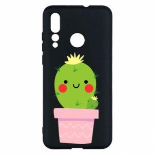 Etui na Huawei Nova 4 Śliczny uśmiechnięty kaktus