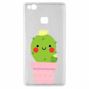 Etui na Huawei P9 Lite Śliczny uśmiechnięty kaktus