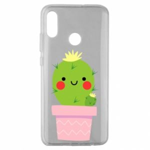 Etui na Huawei Honor 10 Lite Śliczny uśmiechnięty kaktus