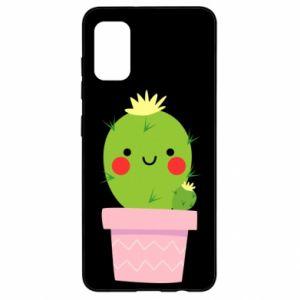 Etui na Samsung A41 Śliczny uśmiechnięty kaktus