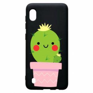 Etui na Samsung A10 Śliczny uśmiechnięty kaktus