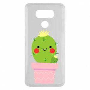 Etui na LG G6 Śliczny uśmiechnięty kaktus