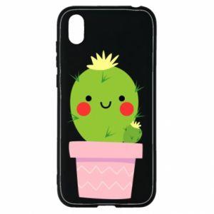 Etui na Huawei Y5 2019 Śliczny uśmiechnięty kaktus