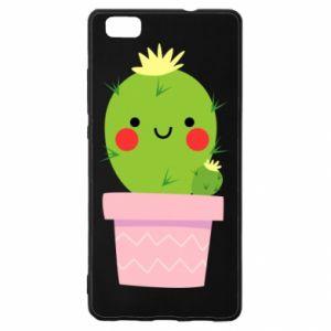 Etui na Huawei P 8 Lite Śliczny uśmiechnięty kaktus