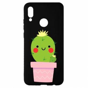 Etui na Huawei P Smart 2019 Śliczny uśmiechnięty kaktus
