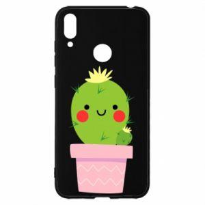 Etui na Huawei Y7 2019 Śliczny uśmiechnięty kaktus