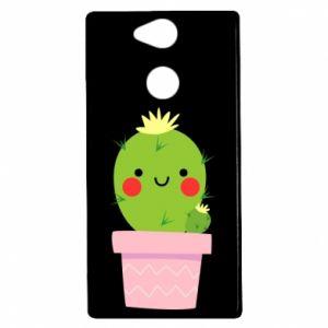 Etui na Sony Xperia XA2 Śliczny uśmiechnięty kaktus