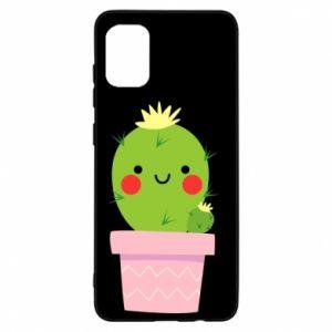 Etui na Samsung A31 Śliczny uśmiechnięty kaktus