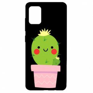 Etui na Samsung A51 Śliczny uśmiechnięty kaktus