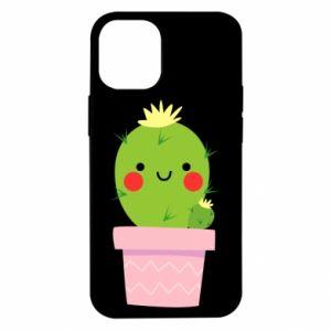 Etui na iPhone 12 Mini Śliczny uśmiechnięty kaktus