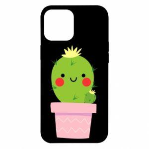 Etui na iPhone 12 Pro Max Śliczny uśmiechnięty kaktus