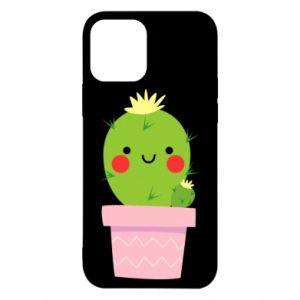 Etui na iPhone 12/12 Pro Śliczny uśmiechnięty kaktus