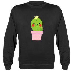 Bluza (raglan) Śliczny uśmiechnięty kaktus