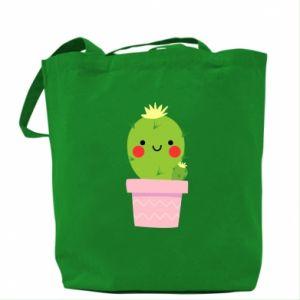 Torba Śliczny uśmiechnięty kaktus