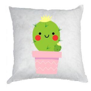 Poduszka Śliczny uśmiechnięty kaktus