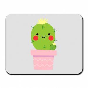 Podkładka pod mysz Śliczny uśmiechnięty kaktus
