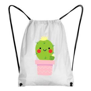 Plecak-worek Śliczny uśmiechnięty kaktus