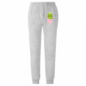 Męskie spodnie lekkie Śliczny uśmiechnięty kaktus