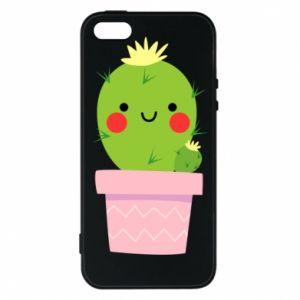 Etui na iPhone 5/5S/SE Śliczny uśmiechnięty kaktus
