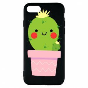 Etui na iPhone 8 Śliczny uśmiechnięty kaktus