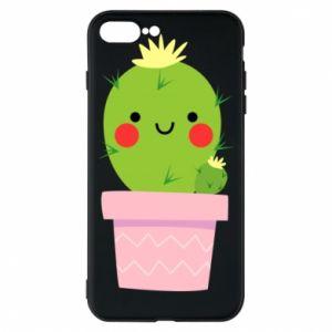 Etui na iPhone 8 Plus Śliczny uśmiechnięty kaktus