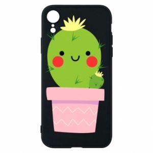 Etui na iPhone XR Śliczny uśmiechnięty kaktus