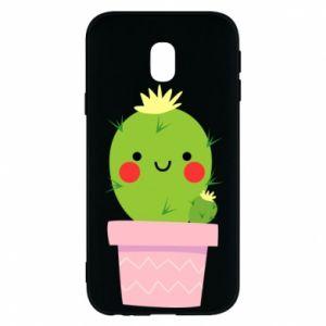 Etui na Samsung J3 2017 Śliczny uśmiechnięty kaktus