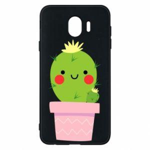 Etui na Samsung J4 Śliczny uśmiechnięty kaktus