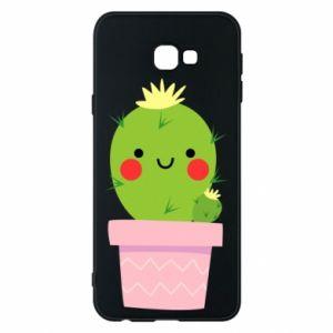 Etui na Samsung J4 Plus 2018 Śliczny uśmiechnięty kaktus