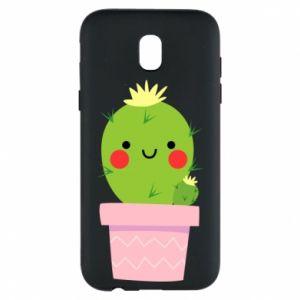 Etui na Samsung J5 2017 Śliczny uśmiechnięty kaktus