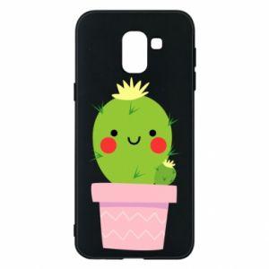 Etui na Samsung J6 Śliczny uśmiechnięty kaktus