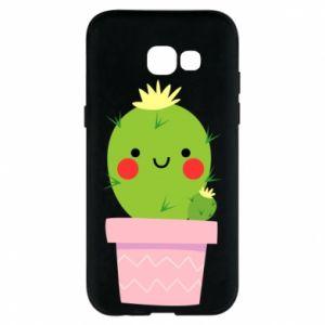 Etui na Samsung A5 2017 Śliczny uśmiechnięty kaktus