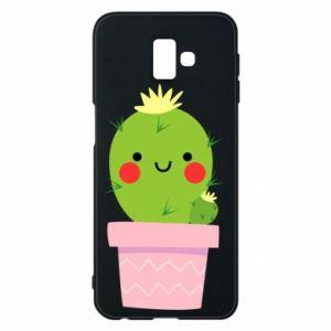 Etui na Samsung J6 Plus 2018 Śliczny uśmiechnięty kaktus