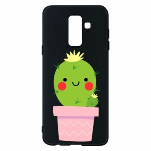 Etui na Samsung A6+ 2018 Śliczny uśmiechnięty kaktus