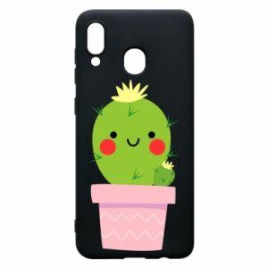 Etui na Samsung A20 Śliczny uśmiechnięty kaktus