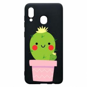 Etui na Samsung A30 Śliczny uśmiechnięty kaktus