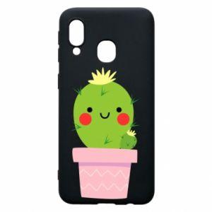 Etui na Samsung A40 Śliczny uśmiechnięty kaktus