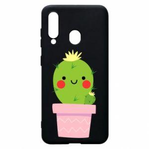 Etui na Samsung A60 Śliczny uśmiechnięty kaktus