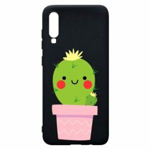 Etui na Samsung A70 Śliczny uśmiechnięty kaktus