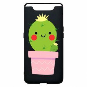 Etui na Samsung A80 Śliczny uśmiechnięty kaktus