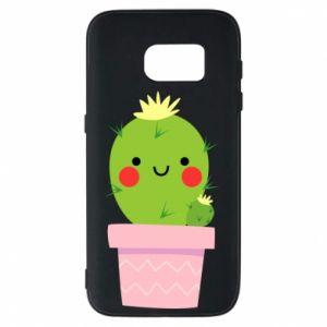 Etui na Samsung S7 Śliczny uśmiechnięty kaktus