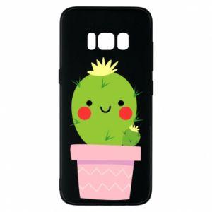 Etui na Samsung S8 Śliczny uśmiechnięty kaktus