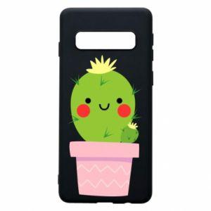 Etui na Samsung S10 Śliczny uśmiechnięty kaktus