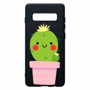 Etui na Samsung S10+ Śliczny uśmiechnięty kaktus