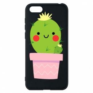 Etui na Huawei Y5 2018 Śliczny uśmiechnięty kaktus