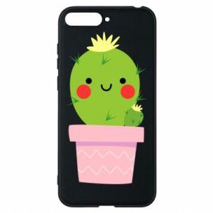 Etui na Huawei Y6 2018 Śliczny uśmiechnięty kaktus